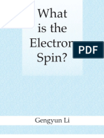17692.What is the Electron Spin by Gengyun Li
