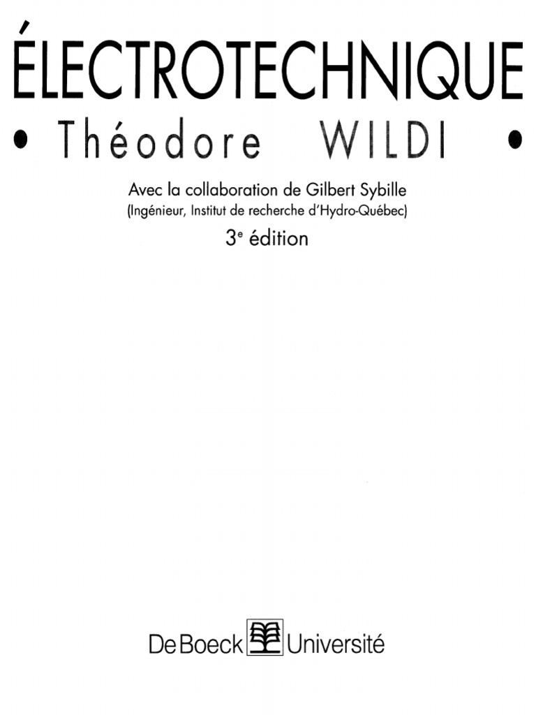wildi electrotechnique pdf