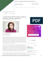 La 'Fiebre' de Los PhD en Ecuador