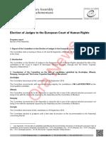 Dokumenti/ Këshilli i Europës tregon pse u refuzuan kandidatët e qeverisë shqiptare për gjyqtar në Strasburg