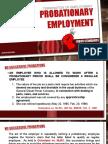 Probationary Employment