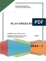 Carátula Plan Operativo