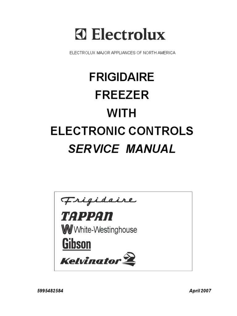 chest freezer service manual refrigerator thermostat rh scribd com frigidaire freezer owners manual frigidaire chest freezer owners manual