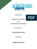 Unidad v Historia de La Psicologia Anabel Hidalgo Paredes