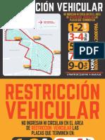 RESTRICCION VEHICULAR 2016 Flyer Banner y Triptico Pasacalle
