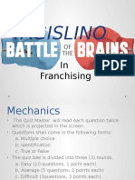 Franchising Quiz Bee Activity