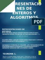 Representaciones de Enteros y Algoritmos