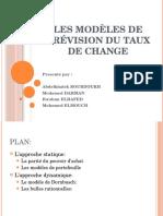 Les Modèles de Prévision Du Taux de Change