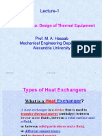 Types of Heat Exchangers