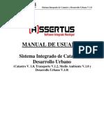 ASSERTUS Municipal - Manual de Usuario (Catastro y Desarrollo Urbano)