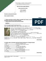 Evaluare Initiala Lb Engleza Cls 5 l1 Sub 32469300