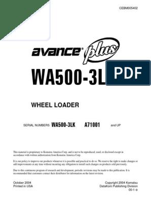 WA500-3 LK SM CEBD005402 | Fahrenheit | Nut (Hardware)