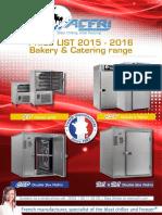 PRICE LIST 2015 2016 Bakery Catering Range