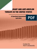 Quarterly Threat Assessment Fall 2016 FINAL
