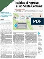 06-10-16 Apoyarán alcaldes el regreso de canchas al río Santa Catarina