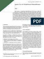 Techno-Economic Investigation of an Air Humidification-Dehumidification