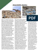 Biodegradable Plastics Article