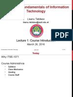 Lecture 01 Intro