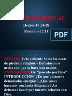 5. Fervor Espiritual
