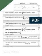 Mat455-Tutorial 8 (Integral Test)
