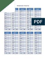 timed multiplication test