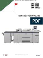 SHARP MX-M850 Series Tech Handy Guide