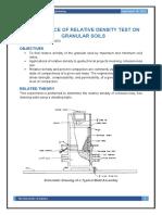 Performance of Relative Density Test on Granular Soils