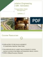 Lecture 1 - Transportation Asset Management