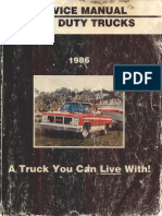X8632 1986 GMC Light Duty Truck CK G P 10 to 30 Service Manual(1)
