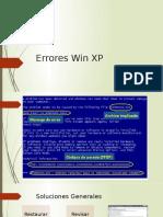 Errores Win XP