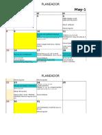 Cronograma y Planeacion 2016