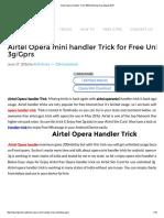 Airtel Opera Handler Trick 100% Working Guaranteed 2016