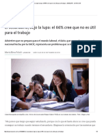 El Secundario, Bajo La Lupa_ El 66% Cree Que No Es Útil Para El Trabajo - 28.09
