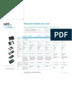 Bluetooth Module Line Card