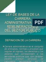 Ley de Bases de La Carrera Administrativa y Expo