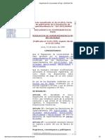 Reglamento de Comprobantes de Pago - LEGISLACION