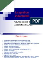 Cours Gestion Industrielle