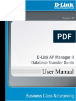 D-Link AP Manager Database Transfer Guide