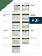 2016-2017 Academic Year Calendar(1)