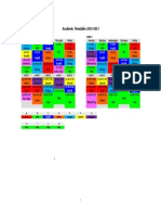 Timetable 2016-2017