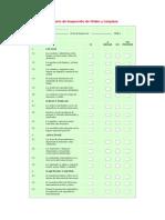 Check List Orden y Limpieza - Apuntes - Seguridad e Higiene Industrial (1)