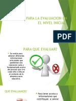 Criterios Para La Evaluacion en El Nivel Inicial