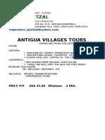 Villages ejemplo propaganda turistica
