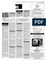 Claremont COURIER Classifieds 10-7-16