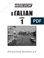 Pimsleur Italian 1 - Reading Booklet