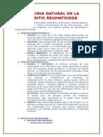 Historia Natural de La Artritis Reumatoidea