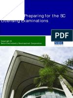 A Guide on Preparing for the SC Licensing Examinations