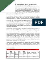 Inversion Directa Del Perú Al Exterior