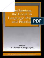 [a. Suresh Canagarajah] Reclaiming the Local in Language Policy