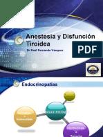 Anestesia Y Disfuncion Tiroidea